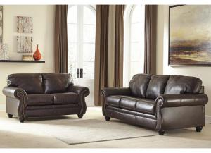 Image for Bristan Walnut Sofa and Loveseat