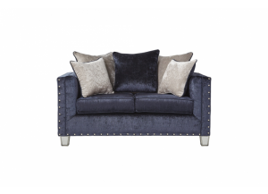 Bliss Navy Loveseat