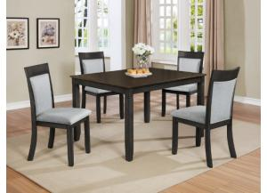 Image for CM-2214 Charlie 5Pcs Dinette ( Table + 4 Chairs)