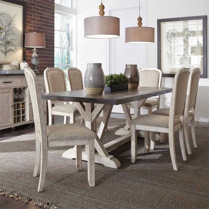 Willowrun Table and 6 chairs,Liberty Furniture
