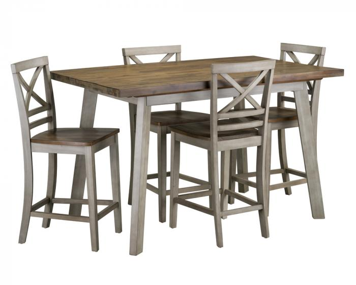 Fairhaven Counter Height Dining Table Set with Four Stools,Standard Furniture