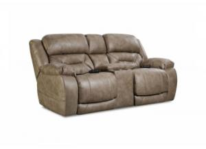 Image for Enterprise Mushroom Power Reclining Loveseat with Adjustable Head and Lumbar