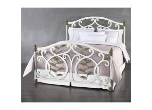 Image for Laurel Queen Complete Iron Bed in Vintage White
