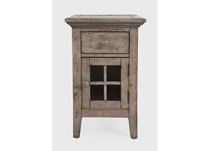 Image for Rustic Shores Weathered Grey Chairside End Table