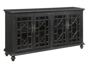Image for Edwardsville Texture Black Media Credenza