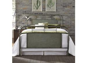 Image for Vintage Series King Metal Bed - Green