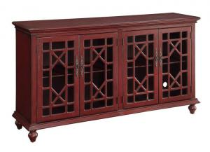 Image for Esnon Texture Red Media Credenza