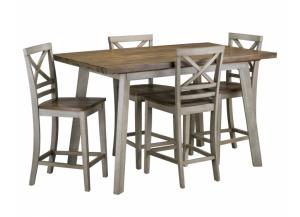 Image for Fairhaven Counter Height Dining Table Set with Four Stools