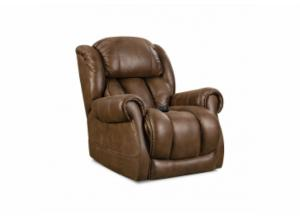Image for Atlantis Cognac Power Recliner with Adjustable Head and Lumbar