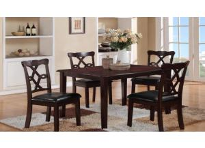 Image for Copper 5PC SET: Table And 4 Chairs
