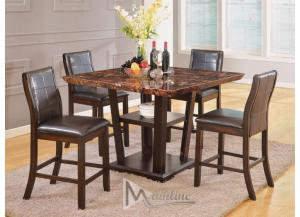 Image for Lapidus 5PC SET: Counter Height Table & 4 Chairs