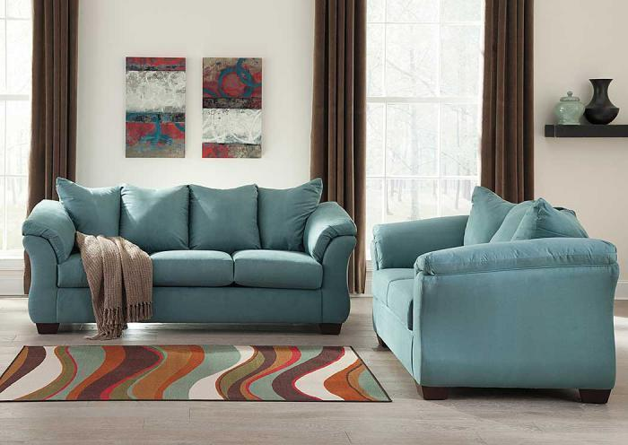 Darcy Sky Sofa and Loveseat,Roses eCircular Special