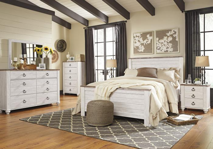 Willowton Queen Panel Bed w/Double Dresser & Nightstand,April 7 2021 eCircular