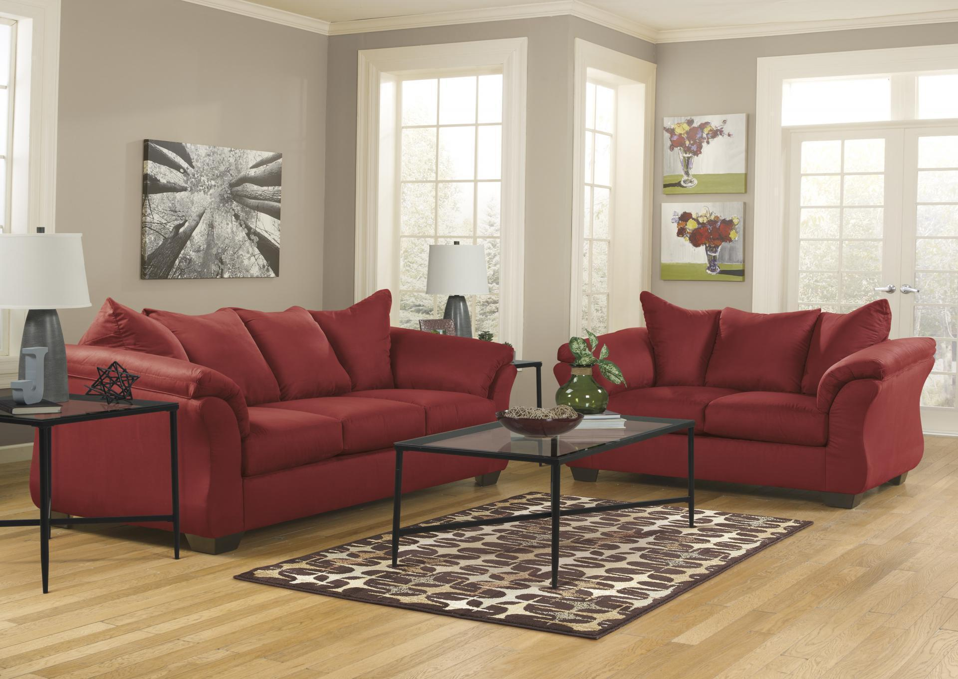 Darcy Salsa Sofa and Loveseat,Roses eCircular Special