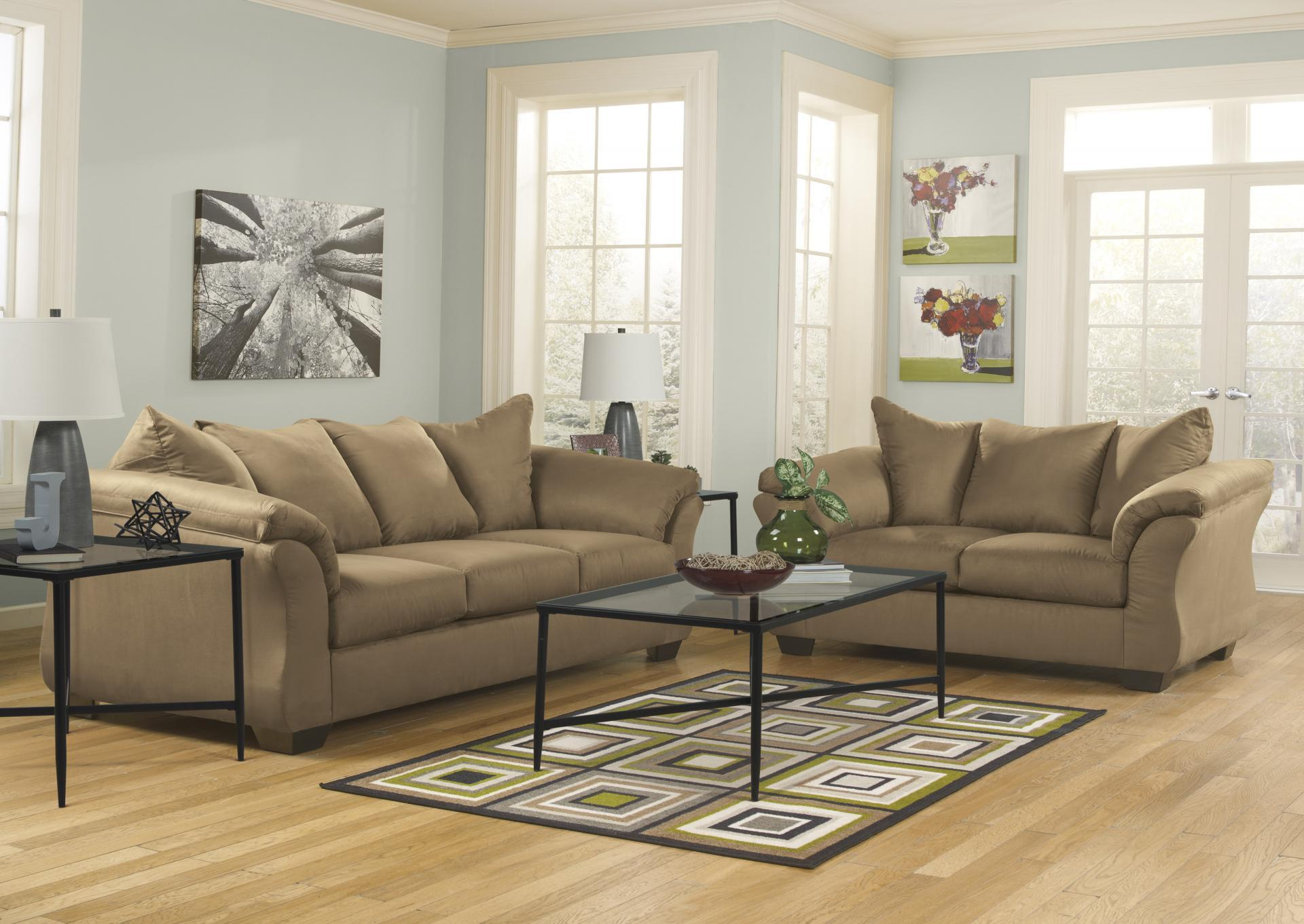 Darcy Mocha Sofa and Loveseat,Roses eCircular Special