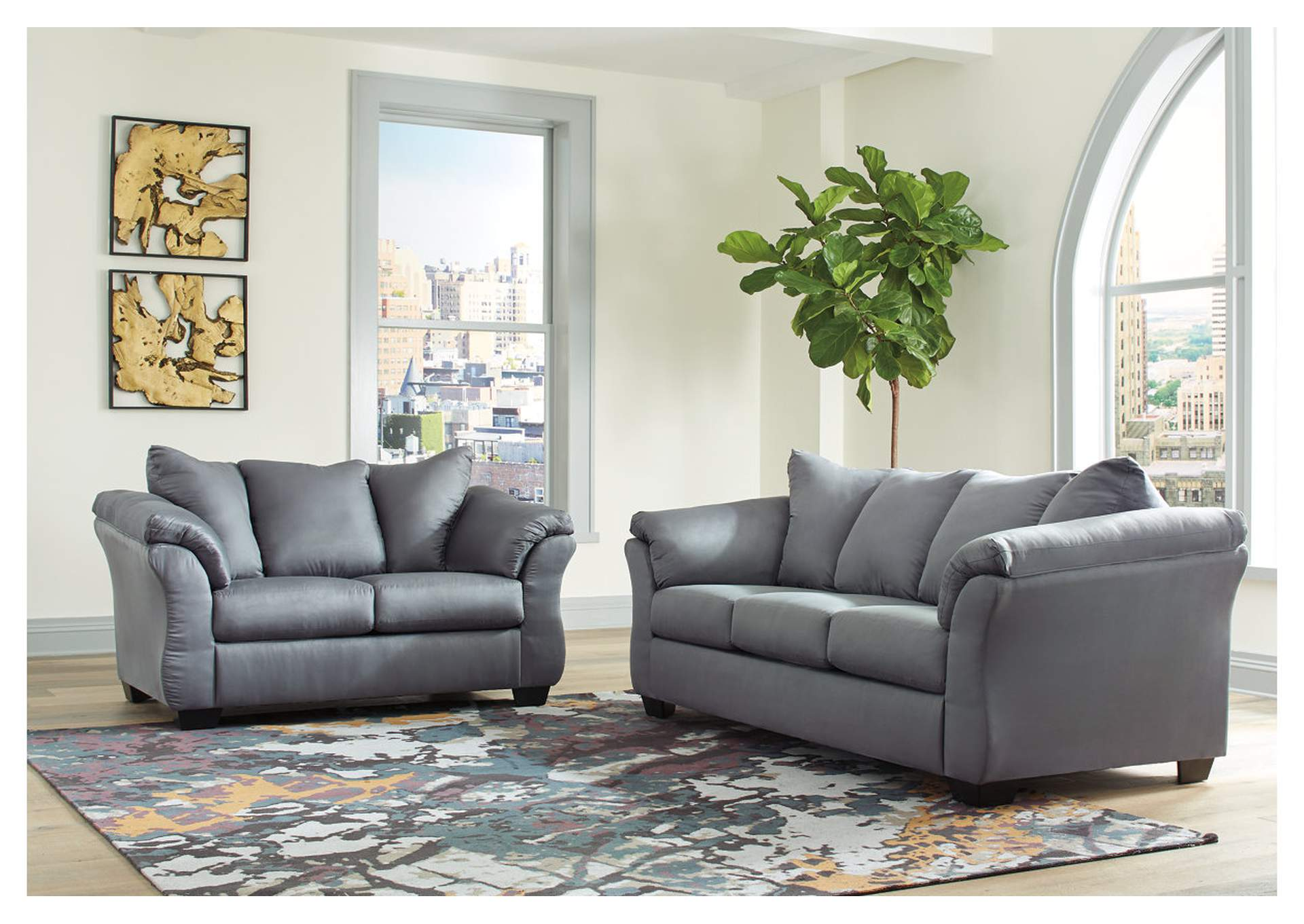 Darcy Steel Sofa and Loveseat,Roses eCircular Special