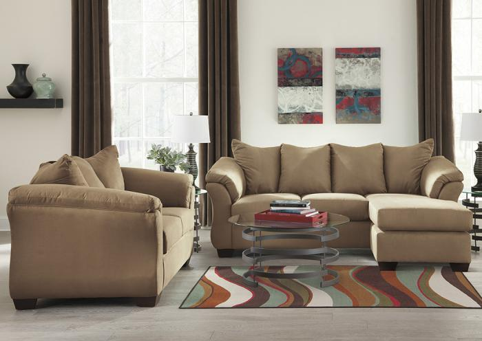 Darcy Mocha Sofa Chaise & Loveseat,Roses eCircular Special