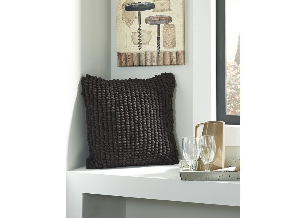 Lukas Black Pillow (4/CS),In Store Products