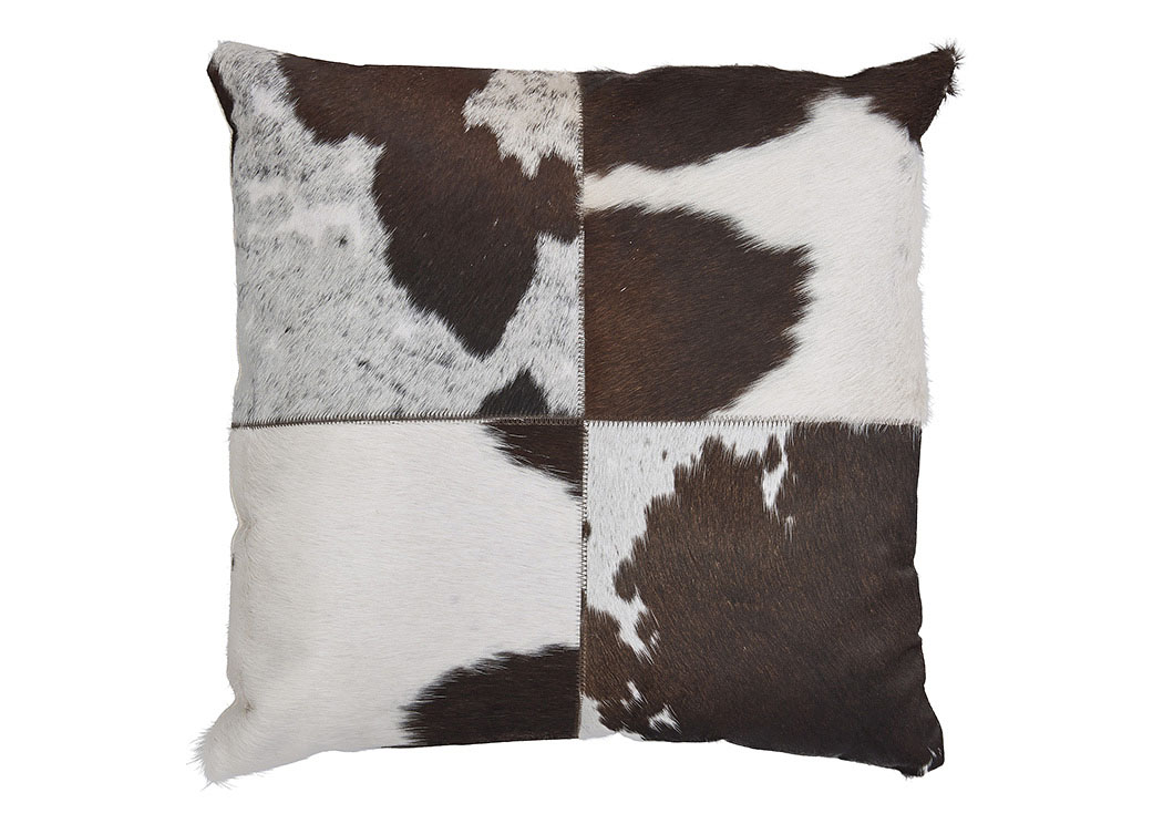 Tegan Dark Brown/White/Black Pillow (4/CS),In Store Products