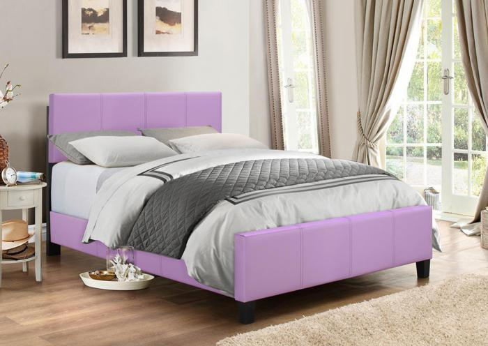 B670 Lilac Queen Bed,In Store Products