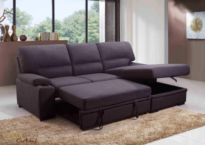 Primo International Convertible Chaise Sofabed with Storage,In Store Products