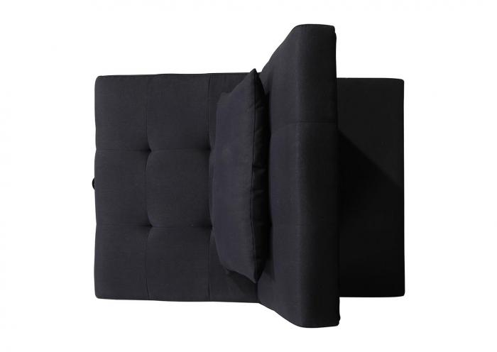 U-9001 Black Convertible Sleeper Chair,In Store Products