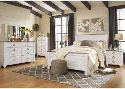 Willowton Twin Bed, Dresser and Nightstand