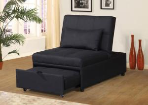 U-9001 Black Convertible Sleeper Chair