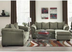 Darcy Sage Sofa Chaise & Loveseat