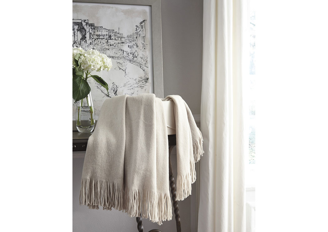 Haiden Ivory/Taupe Throw (3/CS),In Store Product