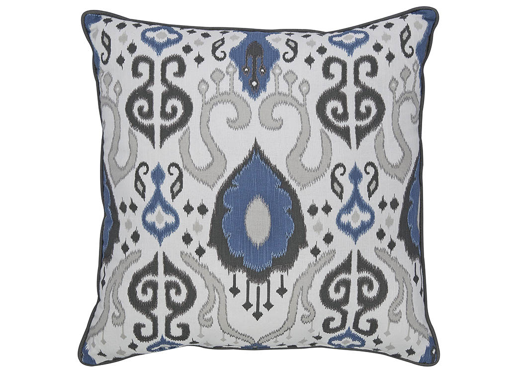 Damaria Blue/Ivory/Brown Pillow (4/CS),In Store Product