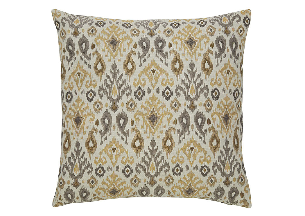 Damarion Taupe/Gold/Tan Pillow (4/CS),In Store Product