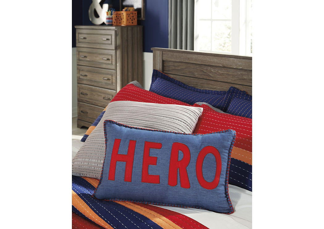 Amarion Blue/Red Pillow (4/CS),In Store Product