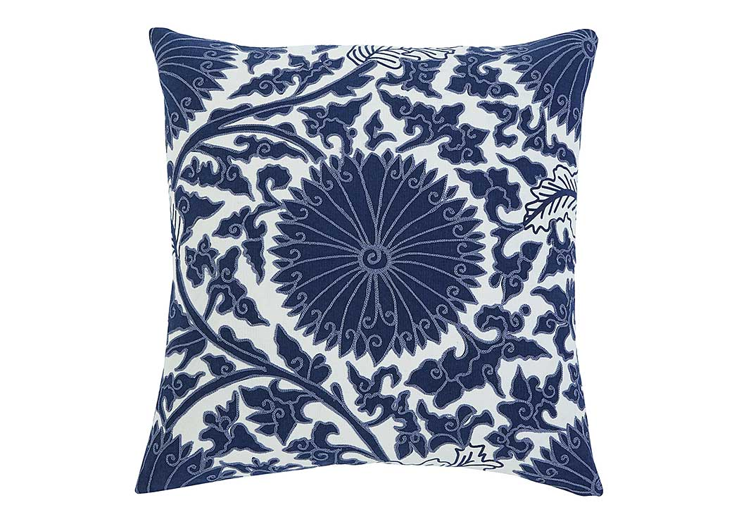 Medallion Navy Pillow (4/CS),In Store Product