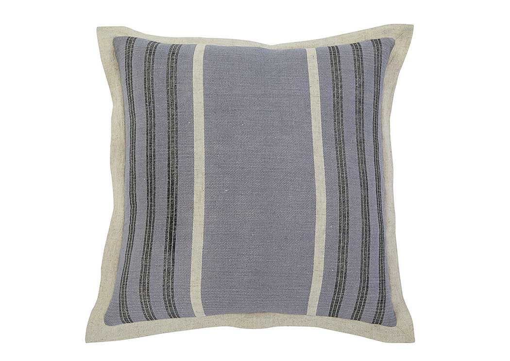 Striped Blue Pillow (4/CS),In Store Product