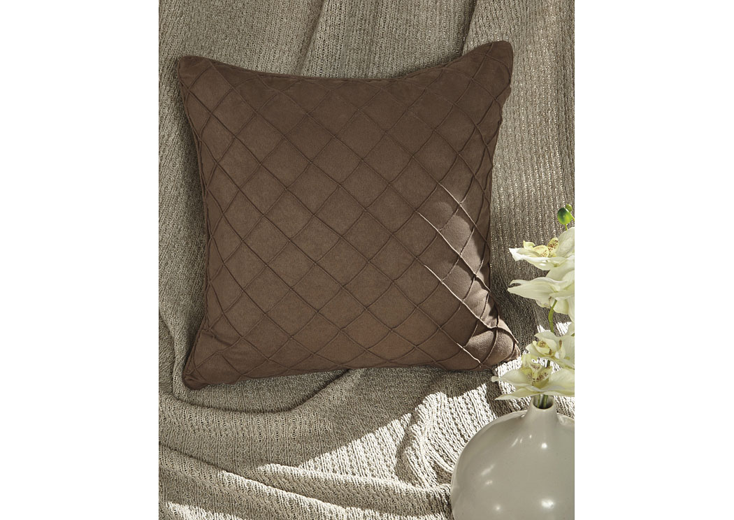 Damia Brown Pillow (4/CS),In Store Product