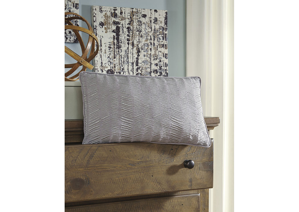 Canton Gray Pillow (4/CS),In Store Product