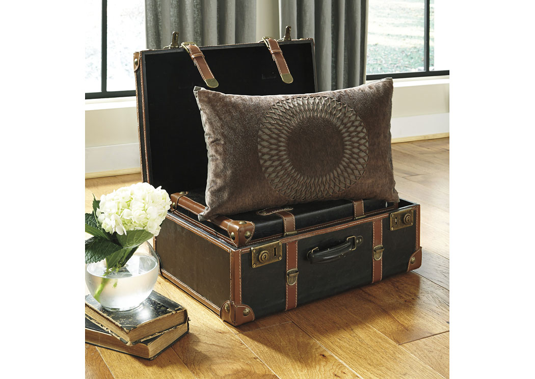 Lazarus Brown Pillow (4/CS),In Store Product