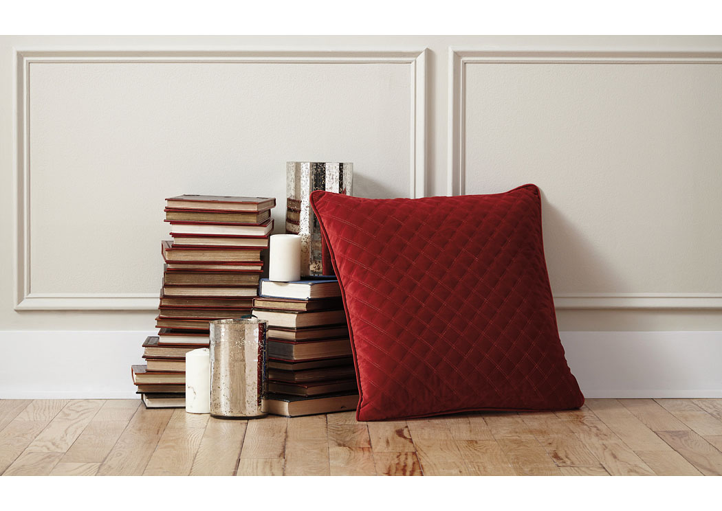 Piercetown Red Pillow (4/CS),In Store Product