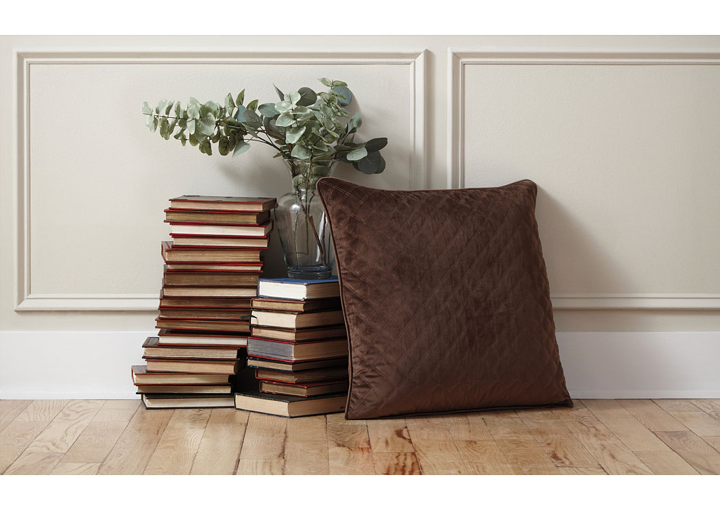 Piercetown Brown Pillow (4/CS),In Store Product