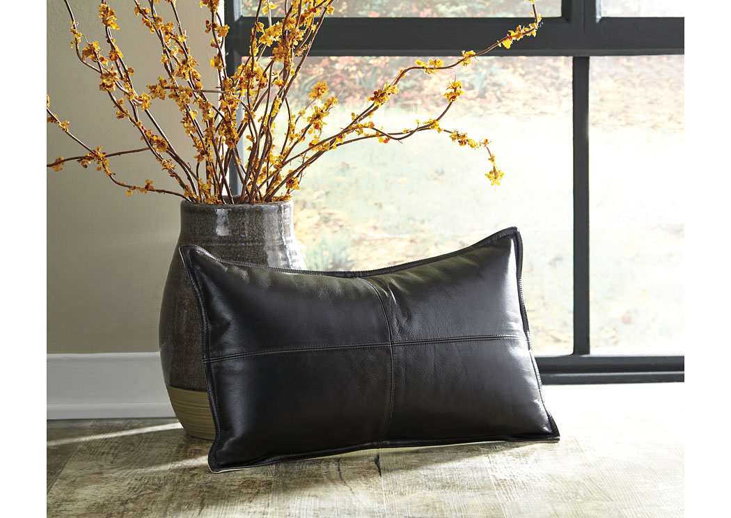 Brennen Black Pillow (4/CS),In Store Product