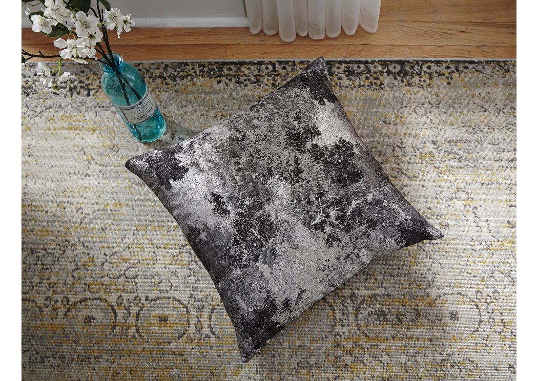 Adain Silver/Gray Pillow (4/CS),In Store Product