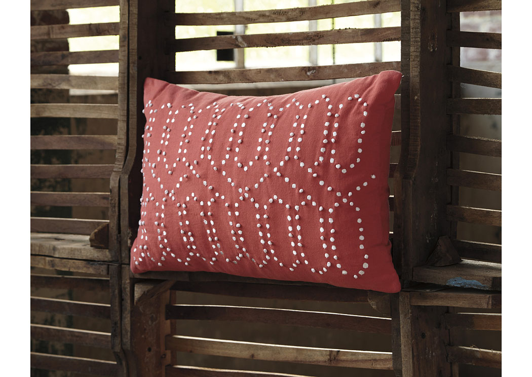 Simsboro Coral Pillow (4/CS),In Store Product