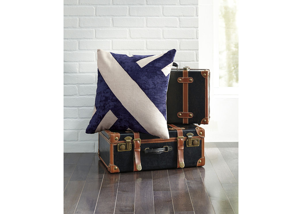 Ambrea Navy Pillow (4/CS),In Store Product