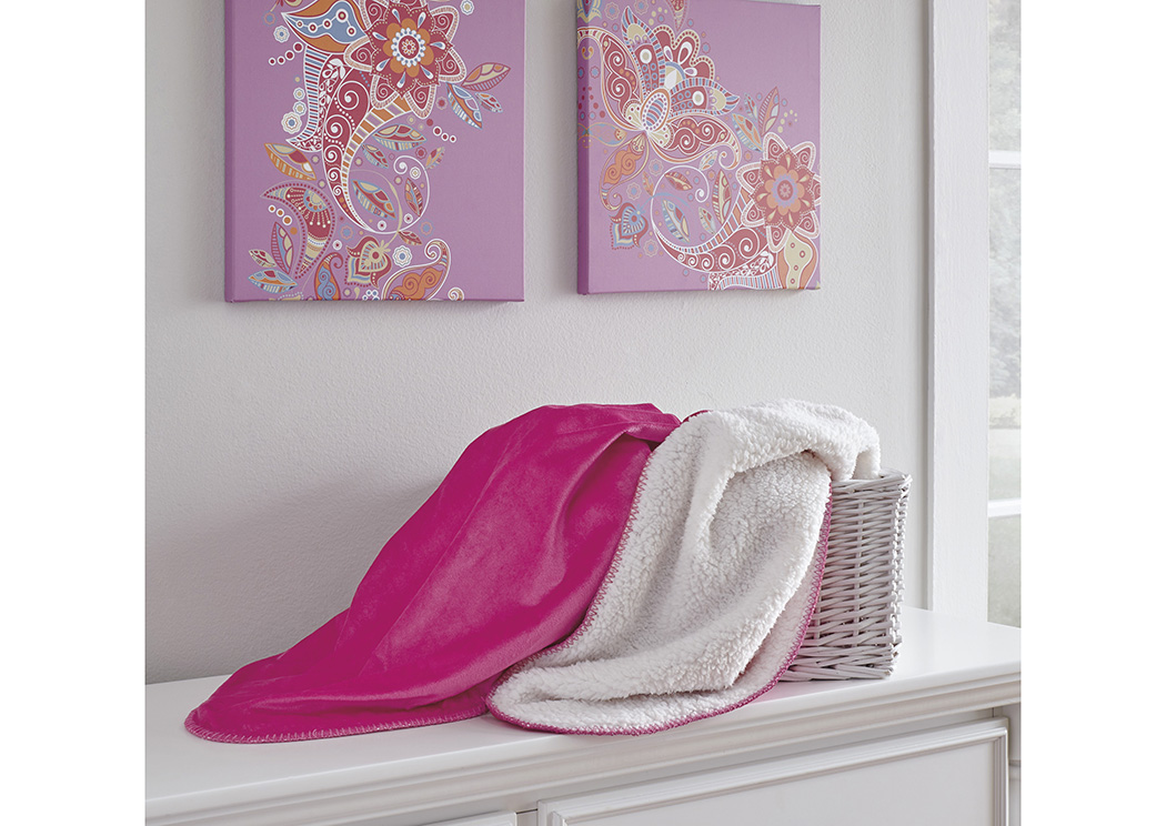 Romeo Pink Throw (3/CS),In Store Product