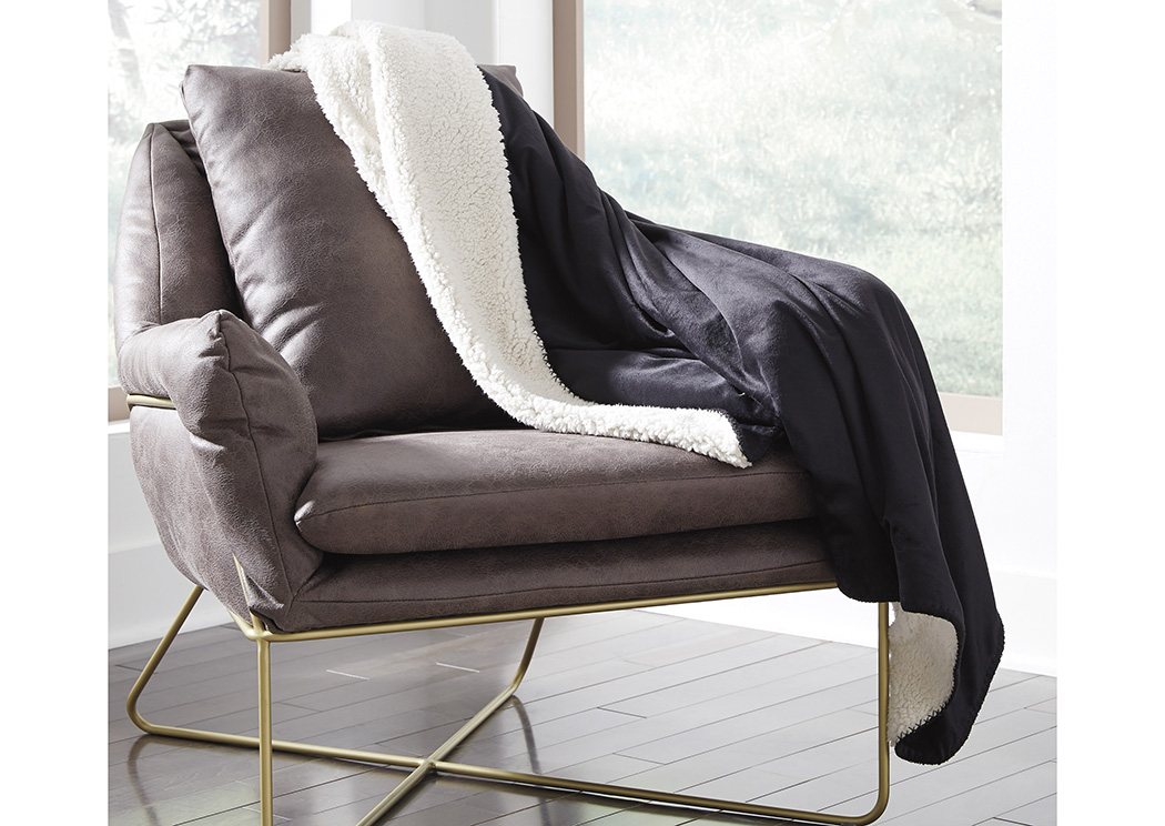 Romeo Black Throw (3/CS),In Store Product