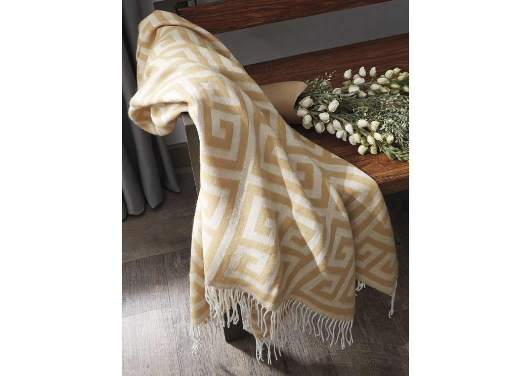 Anitra Gold Throw (3/CS),In Store Product