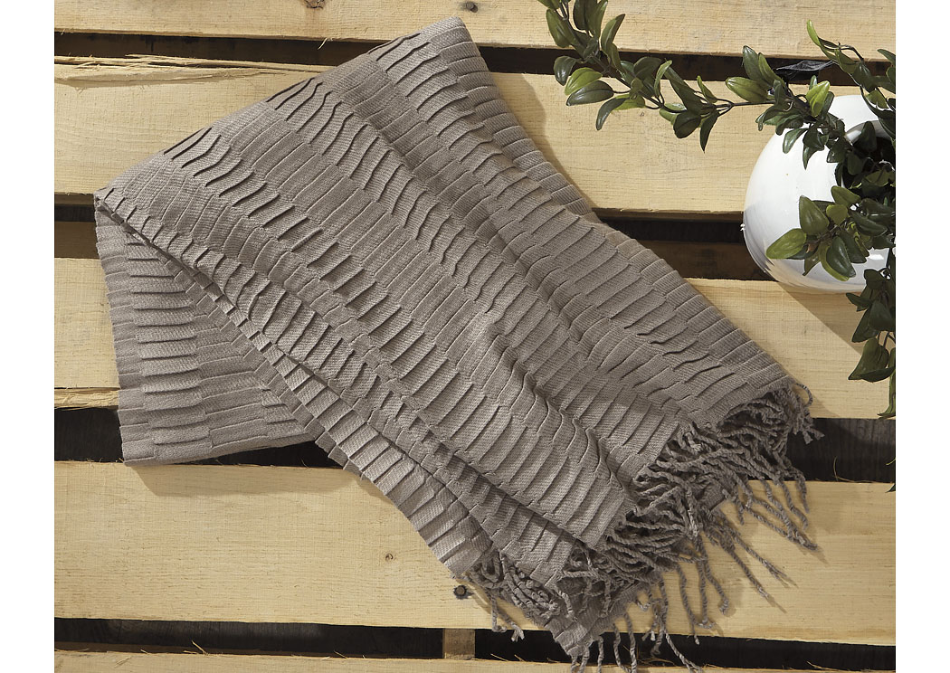 Mendez Taupe Throw (3/CS),In Store Product