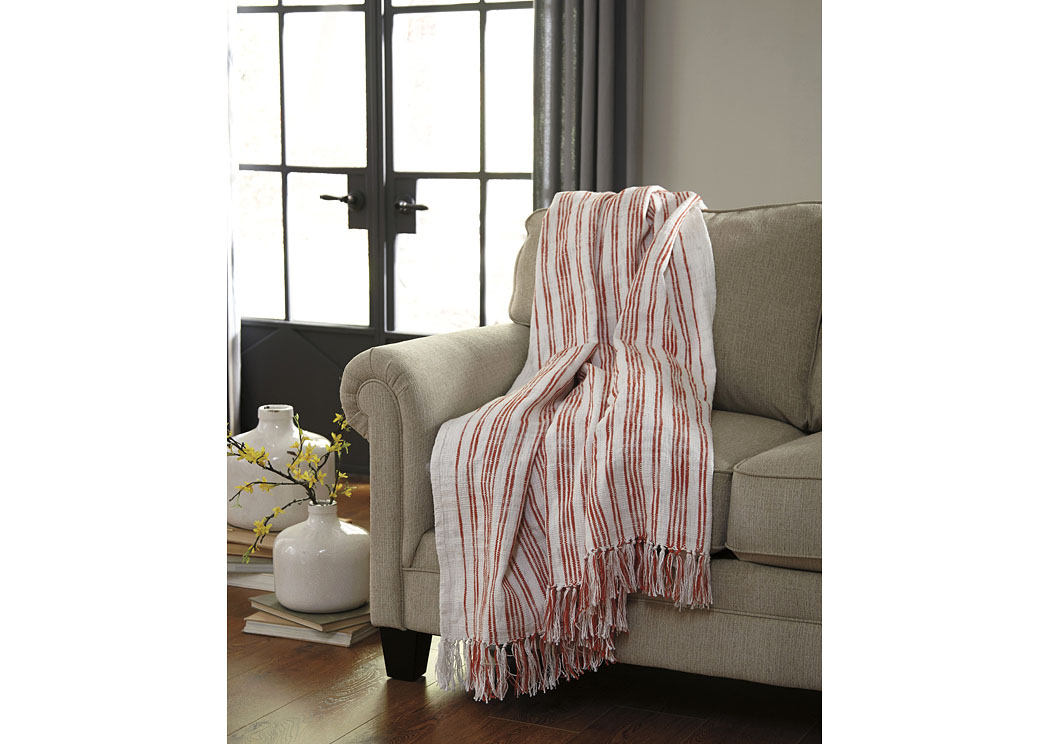 Callumn Coral Throw (3/CS),In Store Product