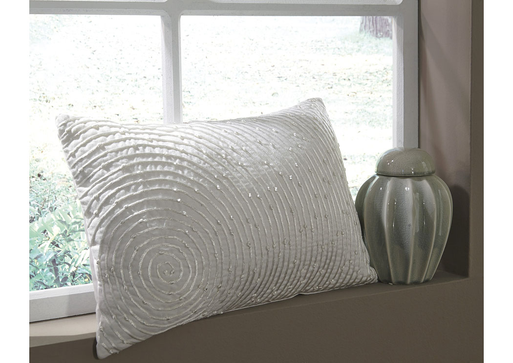 Solon White Pillow (4/CS),In Store Product